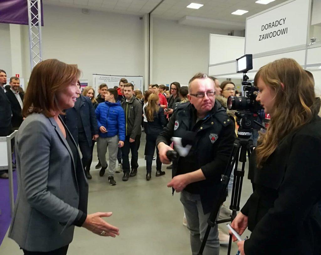 Tłumaczenie dla Urzędu Marszałkowskiego podczas wizyty delegacji z regionu Owernia-Rodan-Alpy, Kraków, marzec 2019 r.
